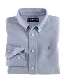 Cotton Oxford Sport Shirt, Size 2-7