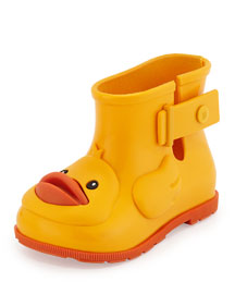Sugar Rain Rubber Ducky Rainboot, Yellow