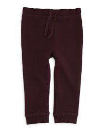 Barty Fleece-Lined Track Pants, Deep Burgundy, Size