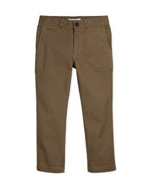 Bryan Stretch-Twill Pants, Mink Gray, Size 4-14