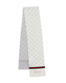 Hermann Kids' Wool Scarf, Ivory