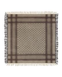 Junior Guccissima Wool-Blend Scarf, Brown