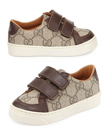 Brooklyn Leather-Trim Canvas Sneaker, Toddler