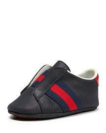 Brooklyn Suede Slip-On Sneaker, Blue, Infant
