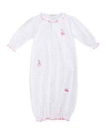 Tutu Precious Convertible Sleep Gown, White/Pink