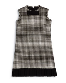 Prince de Galles Plaid Shift Dress, Black/White, Size 8-12
