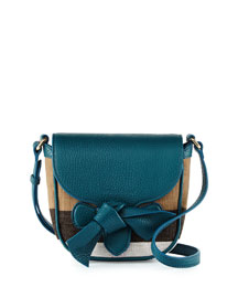 Girls' Jute Leather-Trim Crossbody Bag