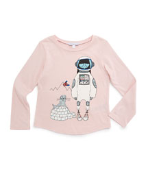 Miss Marc Jersey-Knit Tee, Pink, Size 4-12