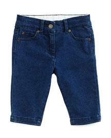 Bob Stretch-Denim Jeans, Medium Blue, Size 12-24 Months