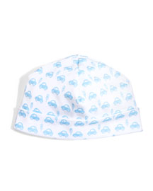 Motor Club Pima Baby Hat, White/Blue