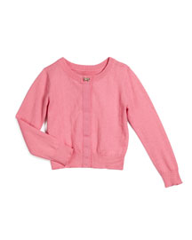 afton button-front cardigan, pink, size s-xl