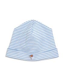 Sports Fan Striped Baby Hat, Blue