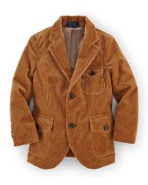 Thompson Cotton-Blend Corduroy Sport Coat, Rustic Tan, Size 2T-7