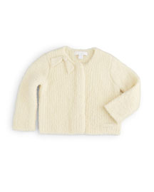 Juliana Boucle Cardigan, Natural White, Size 3M-3Y