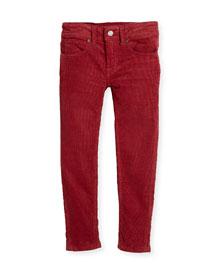 Skinny Corduroy Pants, Rose, Size 4-14
