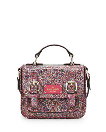 scout metallic patent leather crossbody bag, multicolor