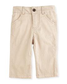 Twill Straight-Leg Pants, Khaki, Size 2T-7Y
