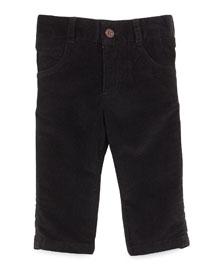 Cotton Corduroy Pants, Black, Size 2T-7Y