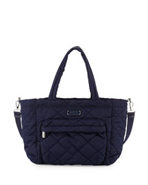 Crosby Quilt Eliz-a-Baby Nylon Diaper Bag, Navy