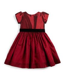Taffeta & Silk Party Dress, Garnet, Size 4-6X