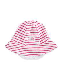 Whale Tails Striped Terry Sun Hat