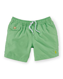 Traveler Drawstring Swim Trunks, Size 2-7