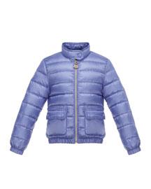 Lans Flap-Pocket Lightweight Down Puffer Jacket, Size 2-6