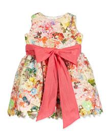 Sleeveless Floral Lace A-Line Dress, Multicolor, Size 12M-3