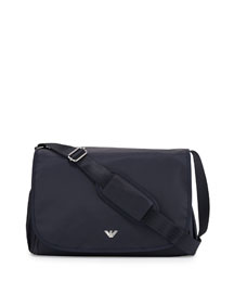 Nylon Diaper Bag, Indigo
