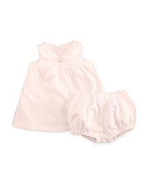 Sleeveless Shift Dress w/ Bloomers, Orchid, Size 3-12 Months