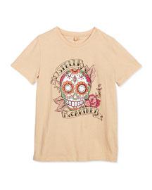 Arlo Stella Skull Jersey Tee, Pink, Size 6-14