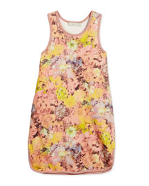 Lydia Sleeveless Floral Jersey Dress, Pink, Size 4-10