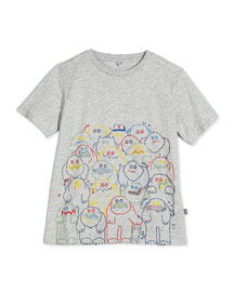 Arlo Monsters Jersey Tee, Gray, Size 4-10