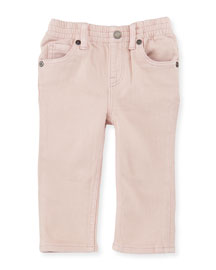 Lois Straight-Leg Stretch Jeans, Light Pink, Size 6M-3