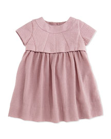 Arora Cap-Sleeve Popover Dress, Pale Pink, Size 3M-3