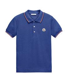 Cotton Pique Polo Shirt, Size 8-14