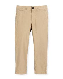 Bryan Twill Straight-Leg Pants, Size 4-14