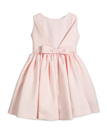 Sleeveless Satin Party Dress, Pink, Size 12M-3