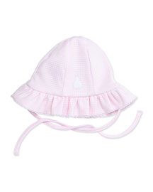 Cottontail Gingham Sun Hat, Pink