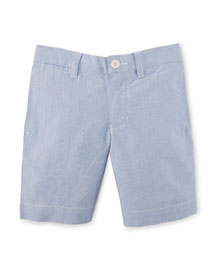 Suffield Oxford Shorts, BSR Blue, Size 2-7