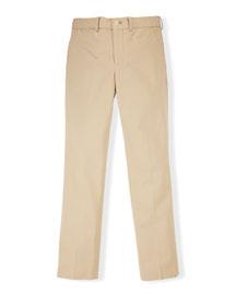 Stretch Chino Slim-Fit Pants, Classic Khaki, Size 2-7