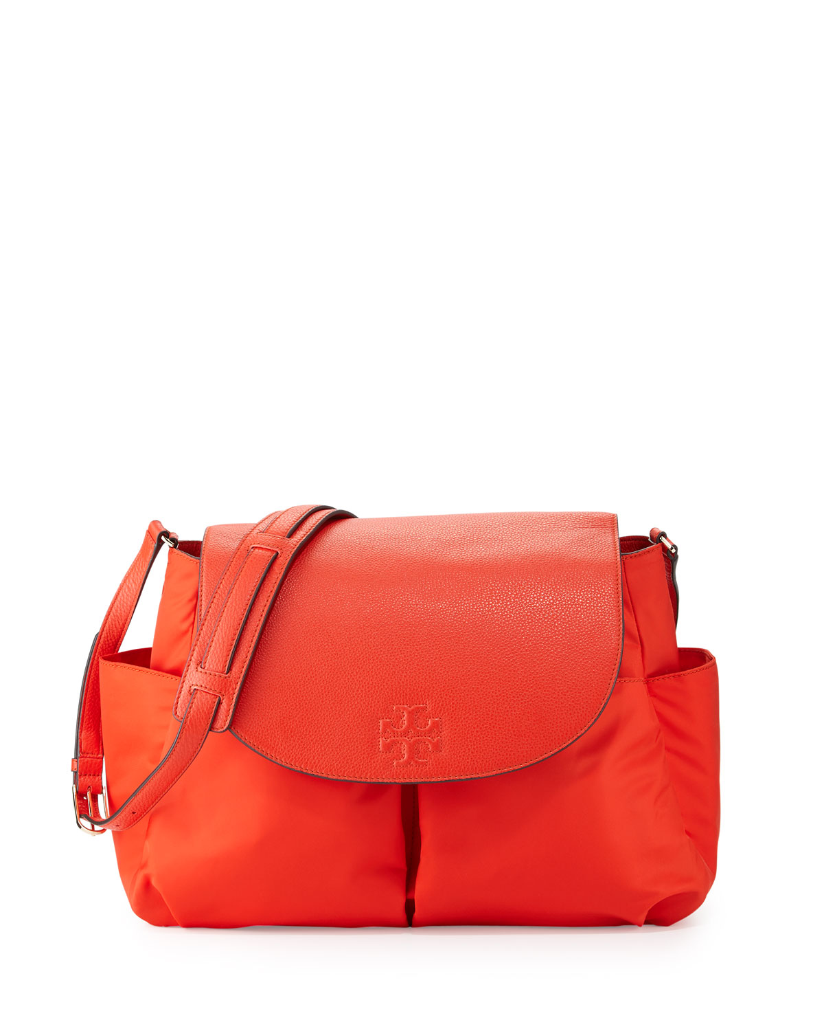 Tory Burch Thea Nylon Messenger Baby Bag, Red (Poppy Red)
