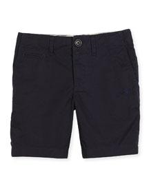 Tristen Lightweight Cotton Chino Shorts, Ink, Size 4-14