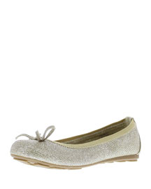 Finnie Metallic Microsuede� Ballet Flat, Platinum Noir, Youth