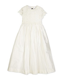 Bethany Long Snowflake Dress, Ivory, Size 2-14