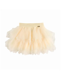Tiered Tulle A-Line Skirt, Yellow, Size 4-12