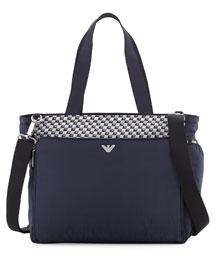 Top-Handle Diaper Bag, Blueberry