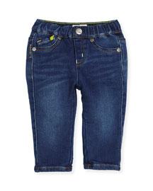 Super Soft Denim Skinny Jeans, Blue, Size 12M-3