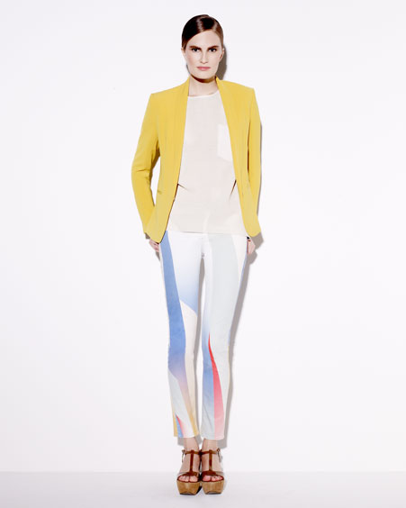 Rag & Bone Tuxedo Jacket, Bailey Cutout Leather Top & The Legging Goetz-Print Jeans