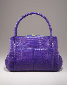 Nancy Gonzalez Linda Crocodile Bag, Blue